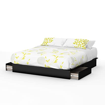 Amazon Com South Shore Step One Platform Bed With 2 Drawers King