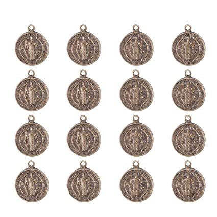 a0b08c7e887e Pandahall 10 juegos rosario Cruz y centro de la medalla Milagrosa con  crucifijo cruz colgantes de