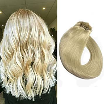 15\' Short Human Hair Extensions Clip in