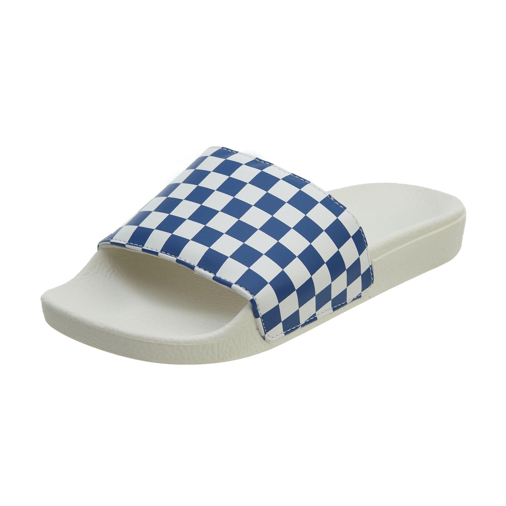 e1682c92c083 Galleon - Vans Checkerboard Slide-On True Blue VN0004KIFBV Mens 8
