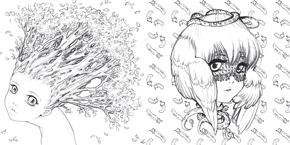 amazoncom pop manga coloring book a surreal journey through a cute curious bizarre and beautiful world 9780399578472 camilla derrico books - Manga Coloring Pages