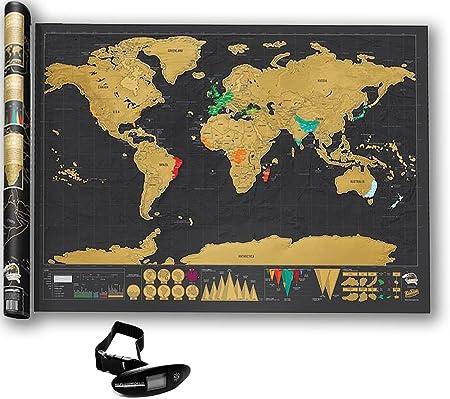 Fun and Travel Mapa del Mundo para Rascar Premium.+ Regalo Una ...