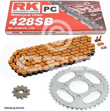 Kettensatz Geeignet Für Cbr 125 R 04 10 Kette Rk Pc 428 Sb 124 Offen Orange 15 42 Auto