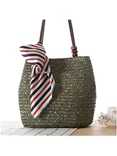 Paddy Meredith Women Shoulder Bag Scarves Tote Bag Handbags Large Capacity Straw Women Messenger Bags Purse