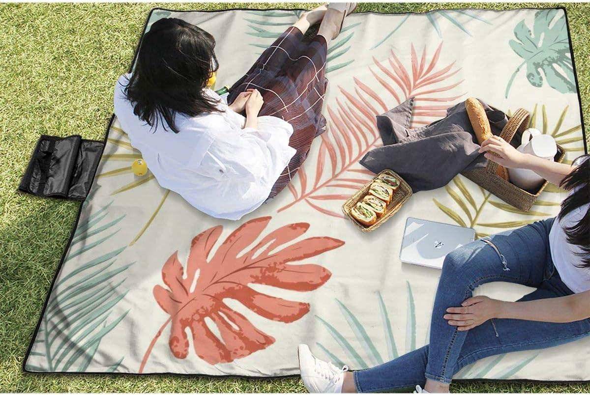 lavable tama/ño grande de 57 x 59 pulgadas impermeable Nonebrand dise/ño retro para picnic camping playa plegable Manta de picnic de verano