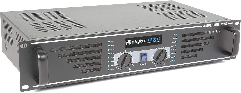 audio amplifiers Skytec SKY-240B 2.0, 0.5/%, 95 dB, 230 V, 50 Hz, 48.200 cm