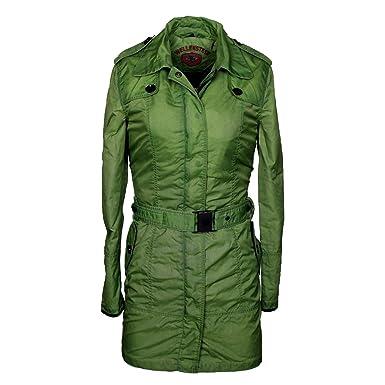 Größe 40 Leistungssportbekleidung günstig Wellensteyn, Damen Trenchcoat Amarone AMAR-472-VGR: Amazon ...
