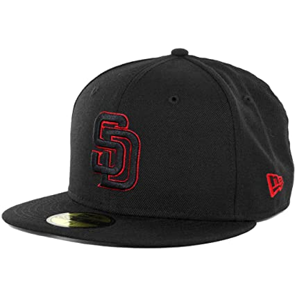 b010ed5e1d5c95 ... best price new era 59fifty san diego padres fitted hat black black red  mens 2b04d 5d65b