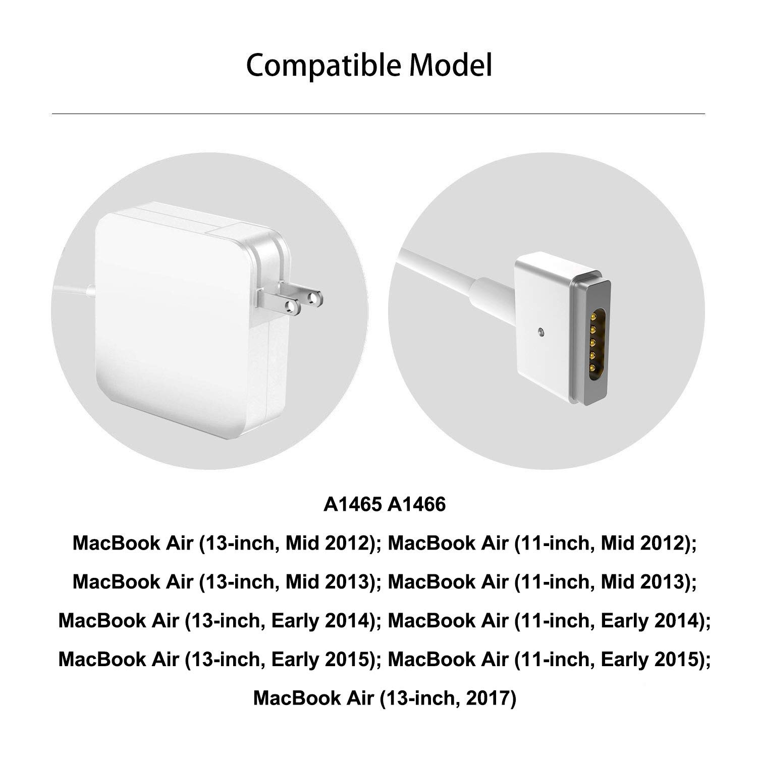 TrophyRak for MacBook Air Charger 45W MagSafe 2 T-Tip Adapter Charger for MacBook Air 11-inch and 13-inch After Mid 2012 by TrophyRak (Image #2)