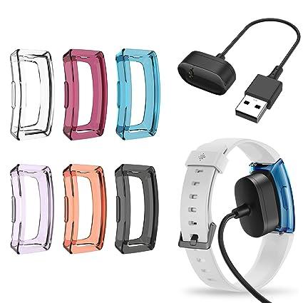 Amazon.com: EEweca - Juego de 6 fundas de TPU para Fitbit ...
