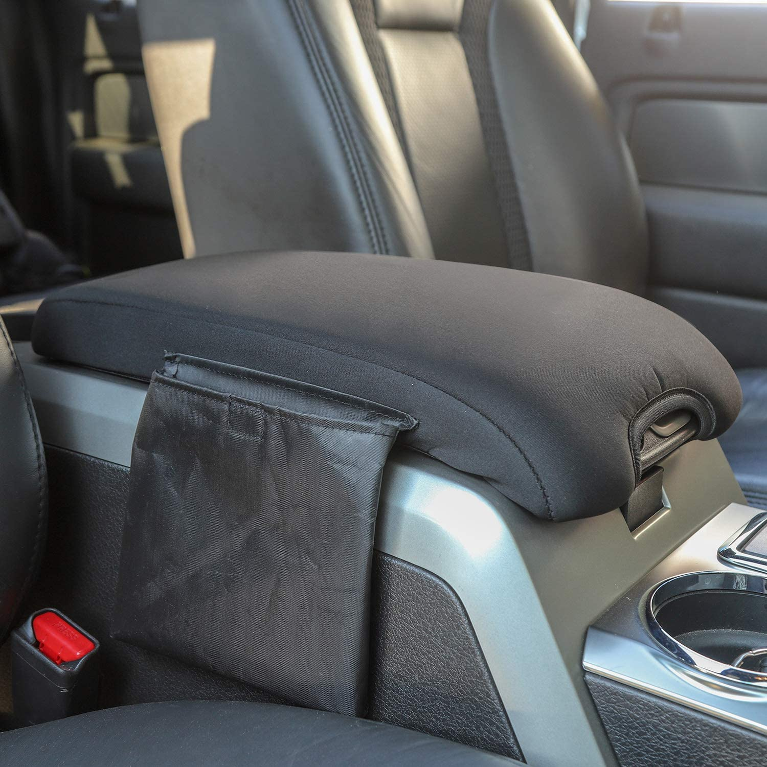 Black Voodonala for F150 Center Console Cover Armrest Pad for 2009-2014 Ford F150