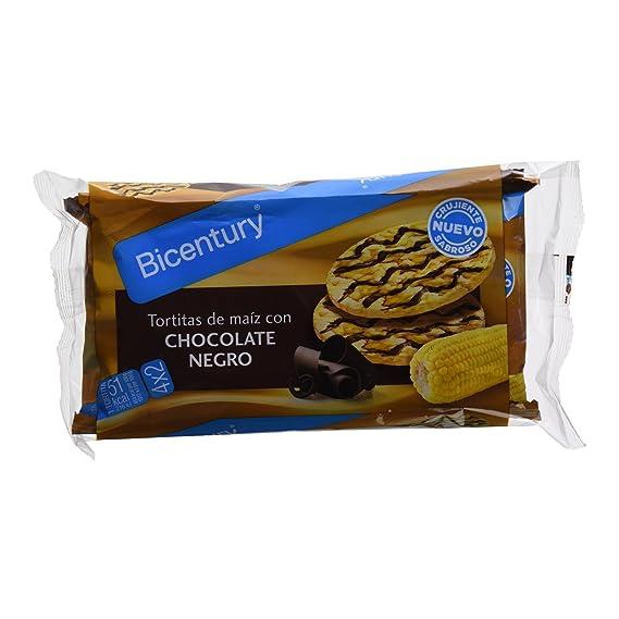 Bicentury - Tortitas De maíz con chocolate negro - 4 x 23.7 g