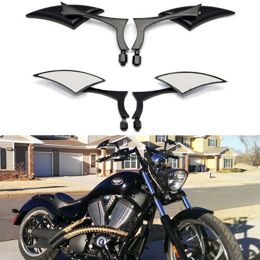 8mm//10mm Chrome Motorcycle Side Mirrors Blade Custom Mirrors For Yamaha Honda Suzuki Chrome