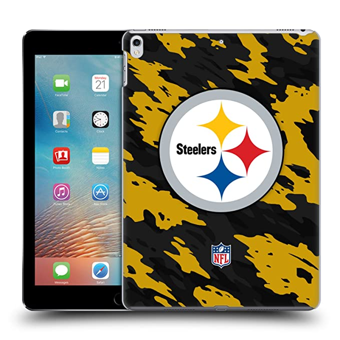 b77d5634f Image Unavailable. Image not available for. Color  Official NFL Camou Pittsburgh  Steelers Logo Hard Back Case for iPad ...