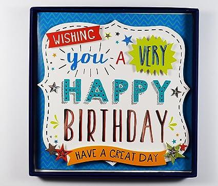 Wishing you a Happy cumpleaños 3d en caja regalo de recuerdo ...