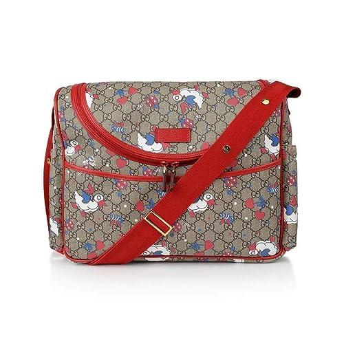 Amazon.com: Gucci GG supreme Bolsa de hombro Beige Azul ...
