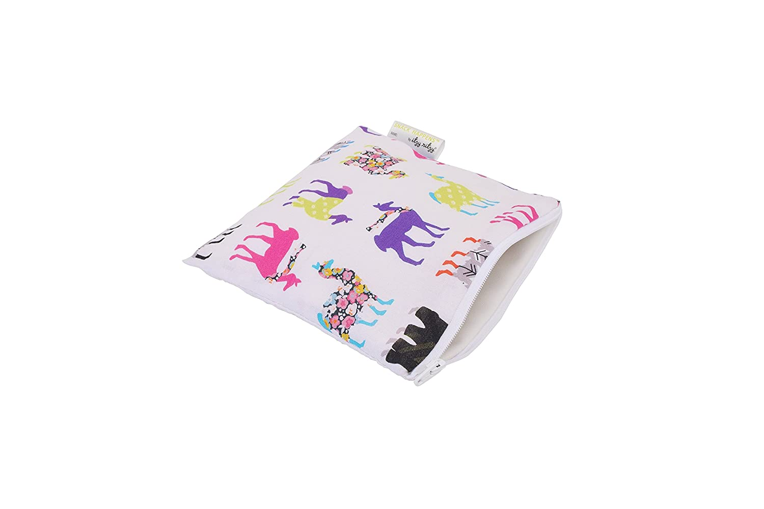 Itzy Ritzy IR-SWB8311 Snack Happens Reusable Snack and Everything Bag, Llama Glama