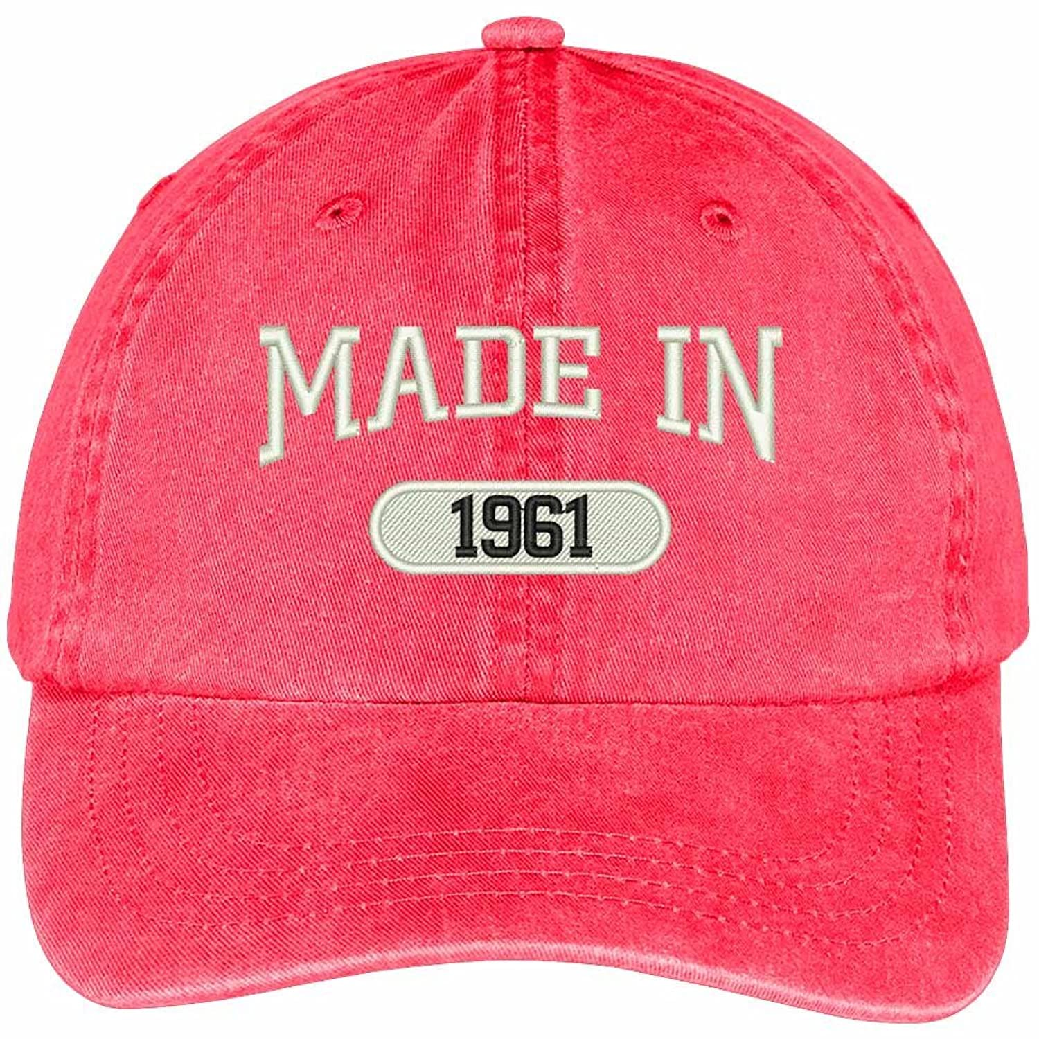 56th Birthday - Made In 1961 Embroidered Low Profile Washed Cotton Baseball Cap