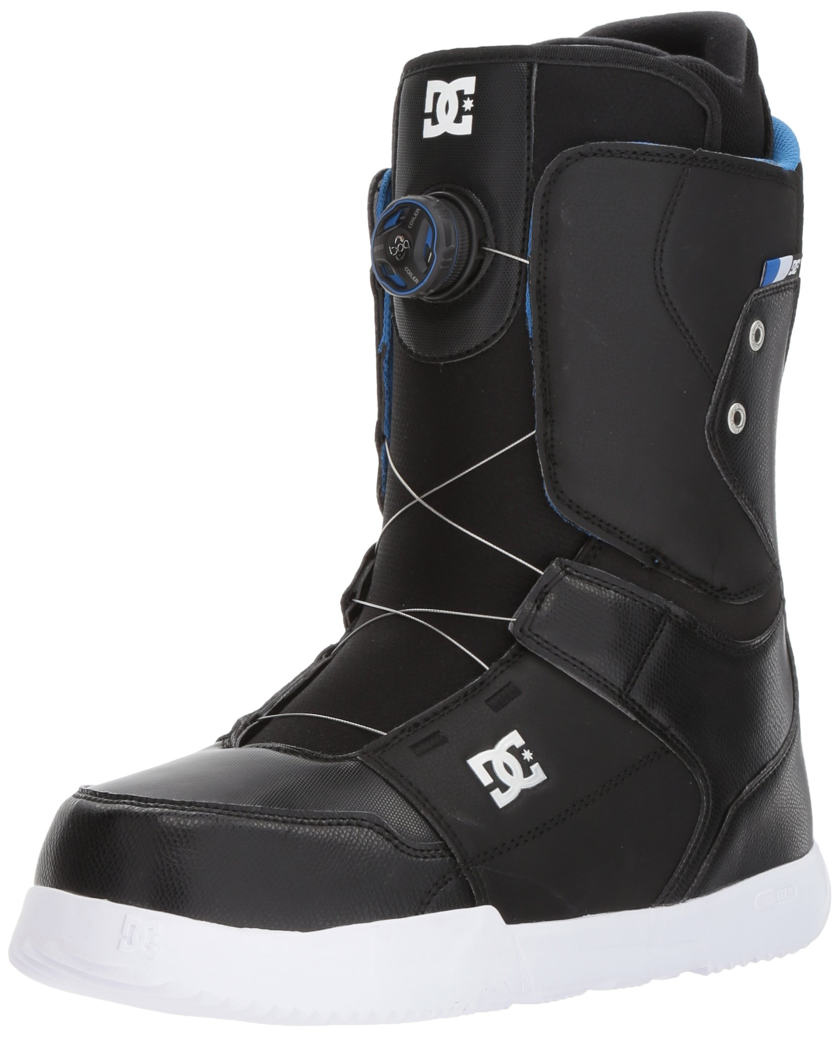 DC Men's Scout Boa Snowboard Boots, Black, 7.5 by DC