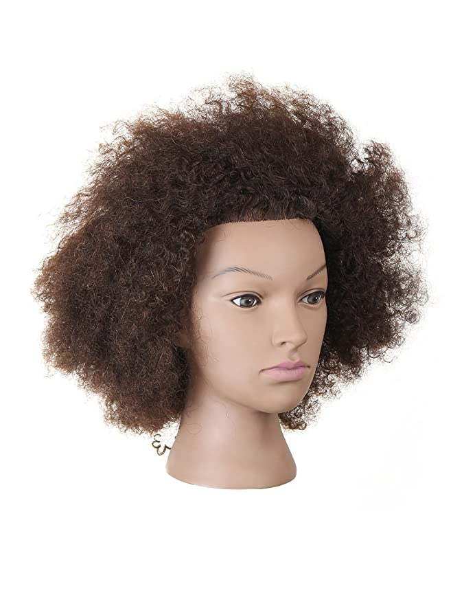Amazon.com : Manikin Head Cabeza Manikins Para Peluca Cabello Pelo Profesional African American 100% Human Hair : Everything Else