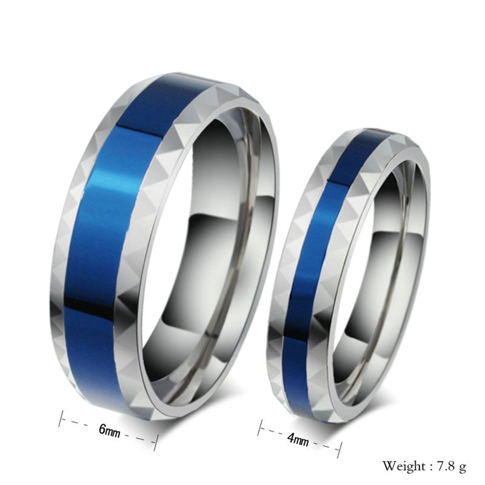 Beydodo 1PCS Stainless Steel Ring 8 Round 6MM Width Wedding Rings Mens Love Ring Band by Beydodo (Image #2)