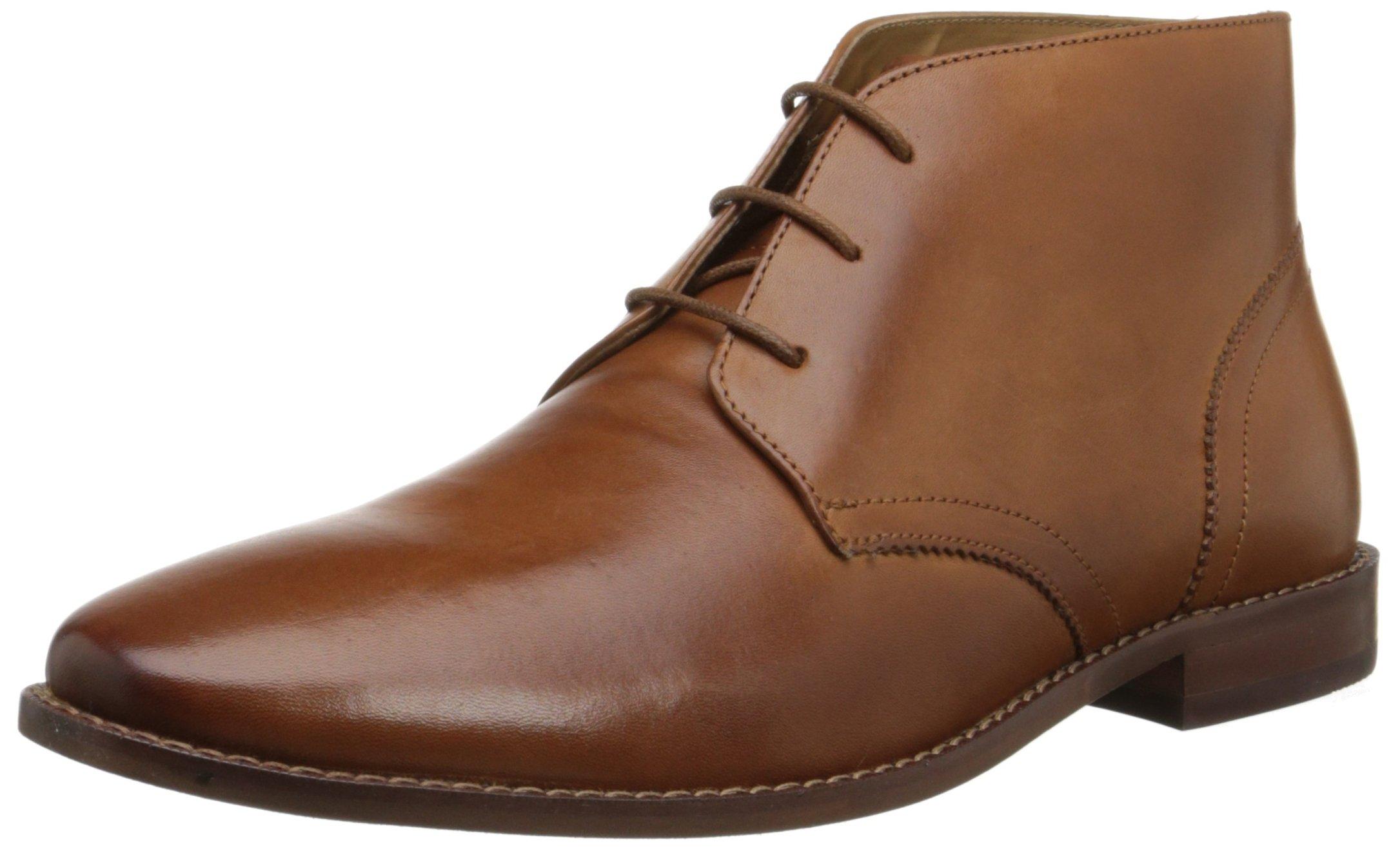 Florsheim Men's Montinaro Plain Toe Dress Casual Chukka Boot, Saddle Tan, 13 D US