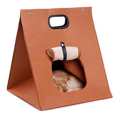 Cocoty-Store 2019 Cama para Mascotas dimple Fleece Nesting Perro Cueva para Gatos y Perros