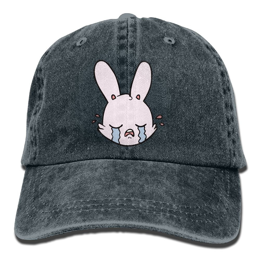 XZFQW Artoon Crying Bunny Face Trend Printing Cowboy Hat Fashion Baseball Cap for Men and Women Black