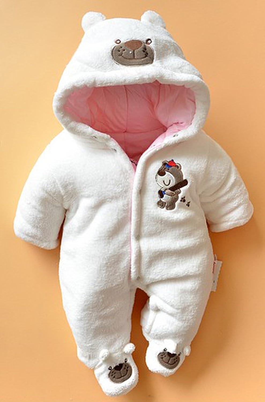 Biwinky Baby Winter Outwear Bodysuit Newborn Infant Romper Jumpsuit