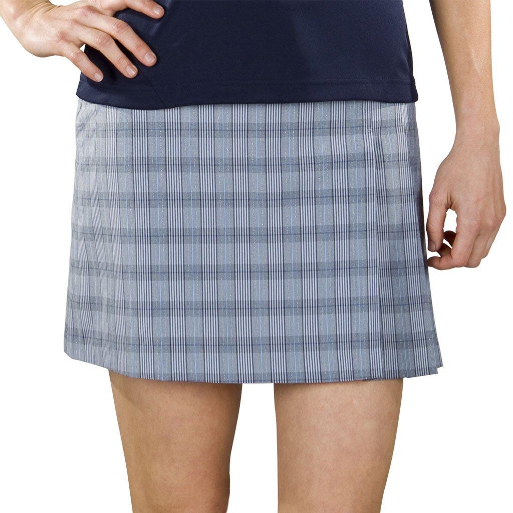 Monterey Club Ladies Lightweight Plaid Asymmetrical Pleated Woven Skort #2849