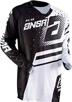 Red//Black//Medium Answer Racing A18 Syncron Mens Off-Road Motorcycle Jersey
