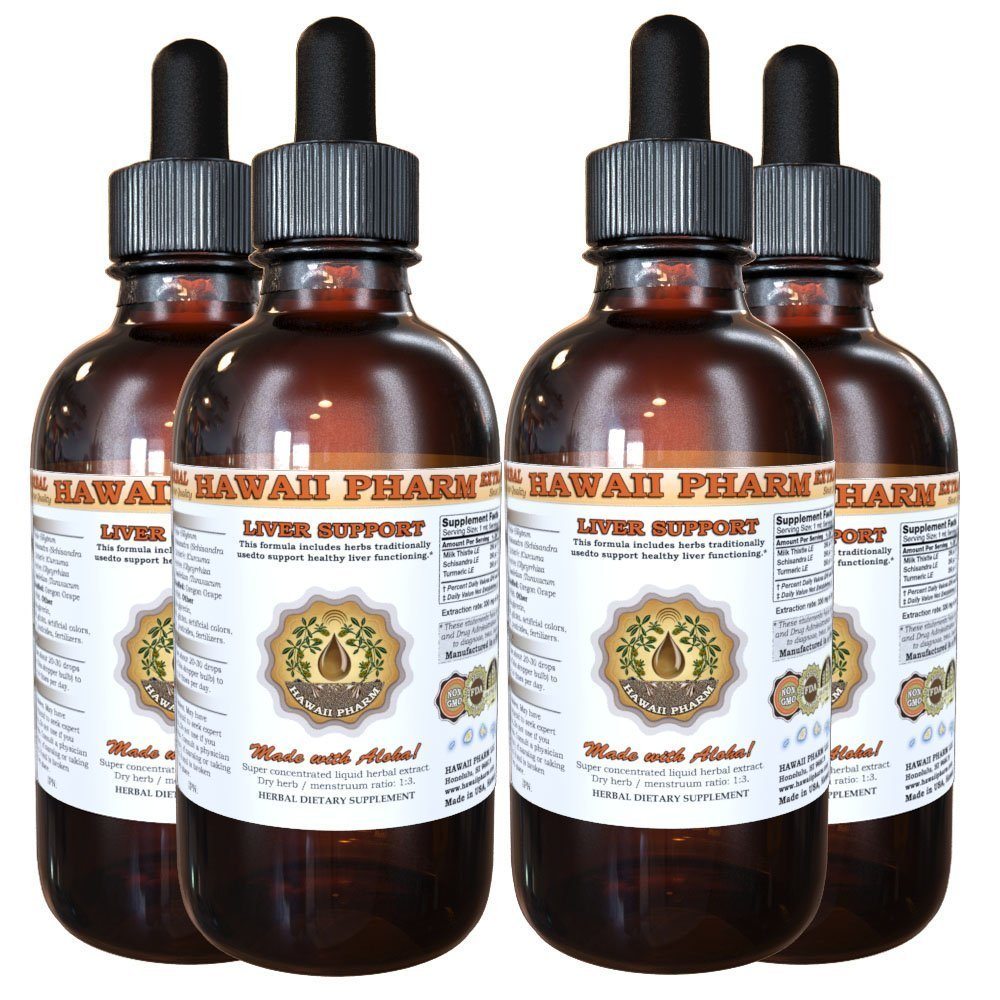 Liver Care Liquid Extract, Liver Support Supplement 4x4 oz