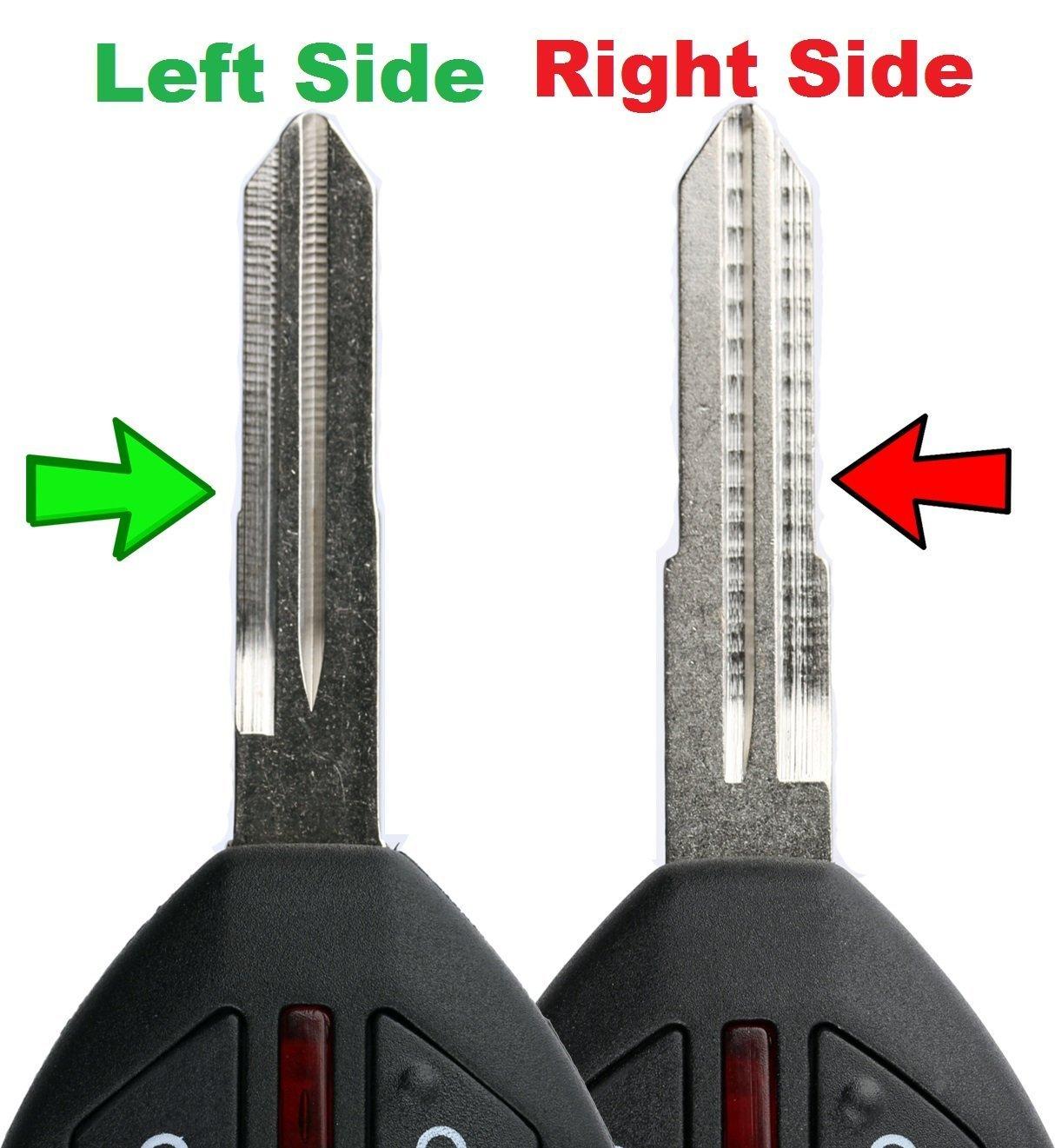 KeylessOption Keyless Entry Remote Key Fob Shell Case Blade Uncut For Endeavor