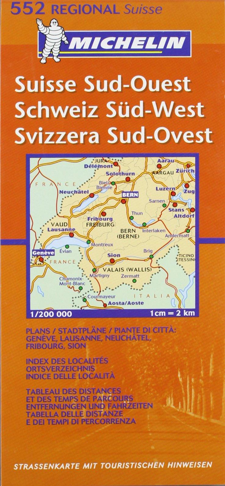 Schweiz Süd-West (MICHELIN Regionalkarten, Band 552)