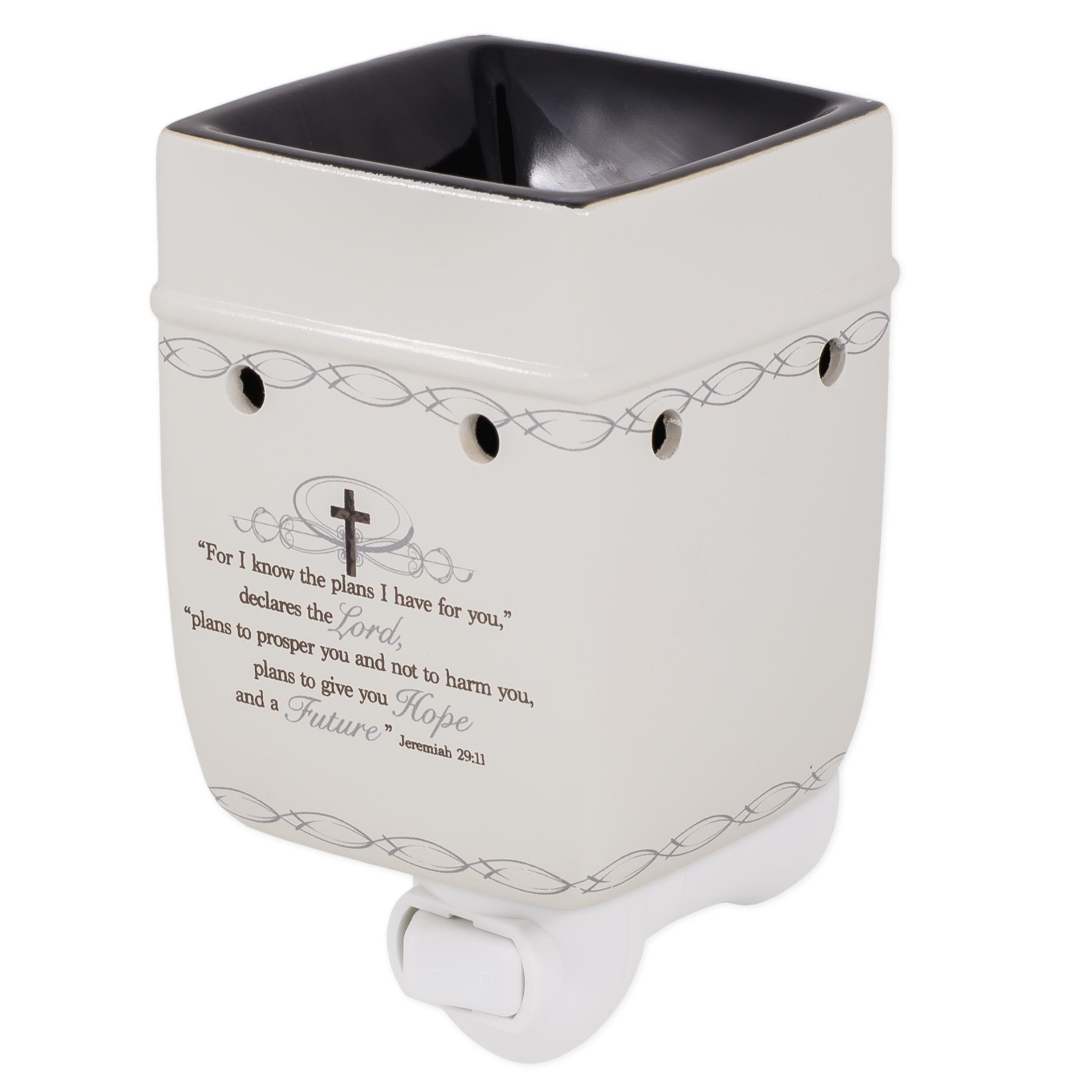Elanze Designs For I Know the Plans I Have For You Jeremiah 29:11 Electric Plug-in Outlet Wax and Oil Warmer