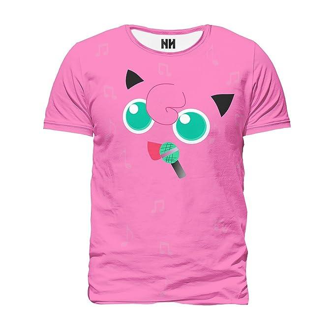 Noorhero - Camiseta de Hombre - Jigglypuff Pokémon: Amazon.es: Ropa y accesorios