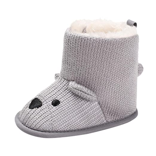 Axinke Baby Boys Girls Winter Soft Shoes Toddlers Cute Snow Boots (0~6 Month 1872dcc3f