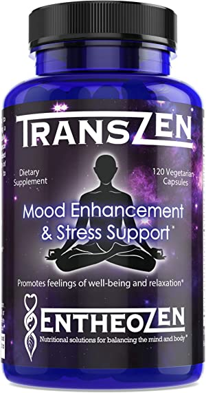 TransZen | Rapid Mood Enhancer | Natural Depression and Anxiety Relief Supplement - 17 Powerful Ingredients Increase Serotonin, Dopamine & GABA for Mood Support and Stress Relief | 120 Vegan Capsules