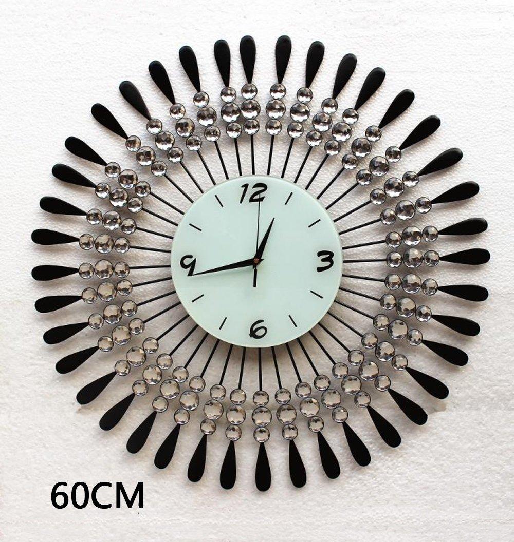 ZHENAI 錆 金属 壁時計 ファッション ミュート 背景装飾、 オプションの16のスタイル ( 色 : P-60cm ) B07BV6GHXR P-60cm P-60cm