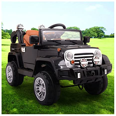 Amazon Com 12v Jeep Style Kids Ride On Truck Battery Powered