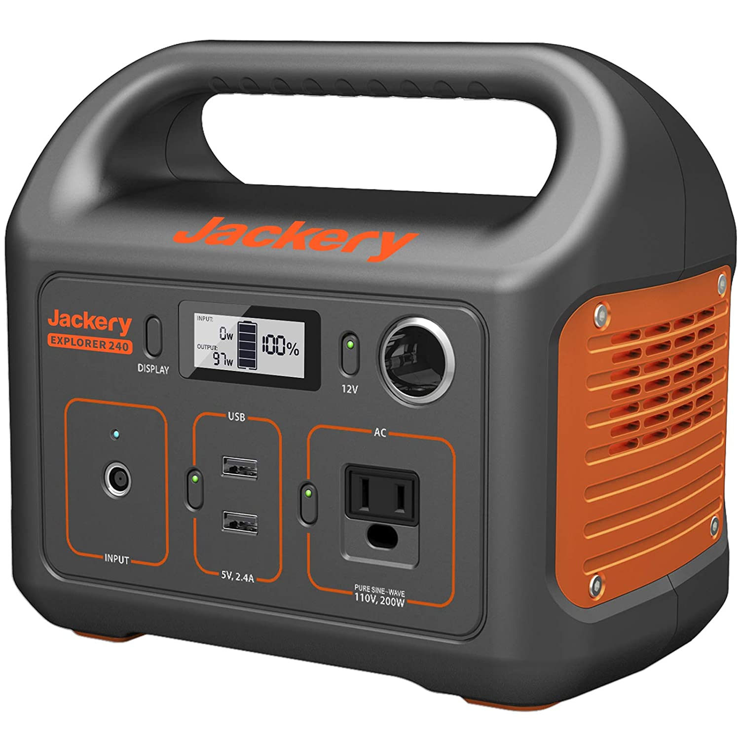 Jackery Portable Power Station Explorer: Power a heater with solar panels + batteries