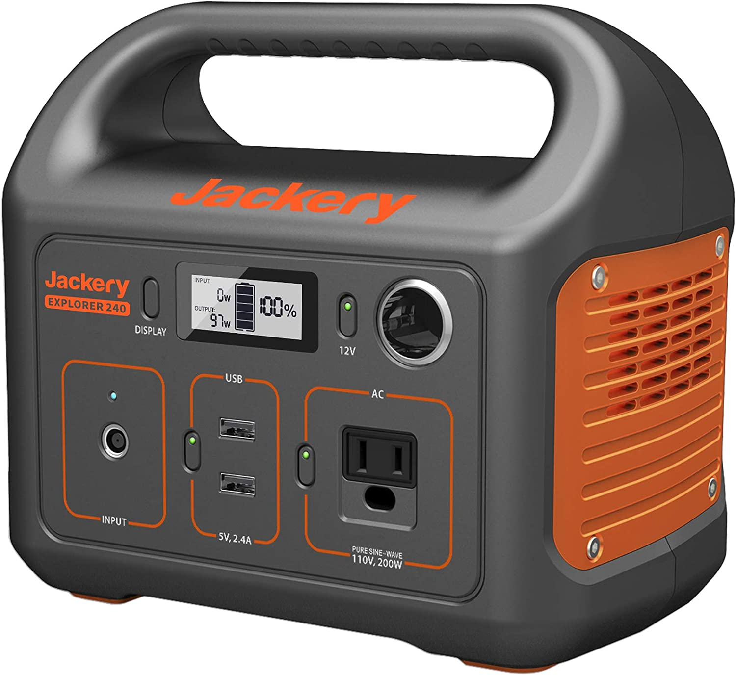 Jackery Portable Power Station Explorer 240, 240Wh Backup Lithium Battery, 110V/200W Pure Sine Wave AC Outlet, Solar Generator (Solar Panel Not Included) for Outdoors Camping Travel Hunting Emergency : Garden & Outdoor