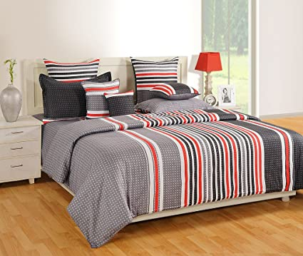 Perfect Swayam Grey Colour Extra Large Bed Sheet With Pillow Covers