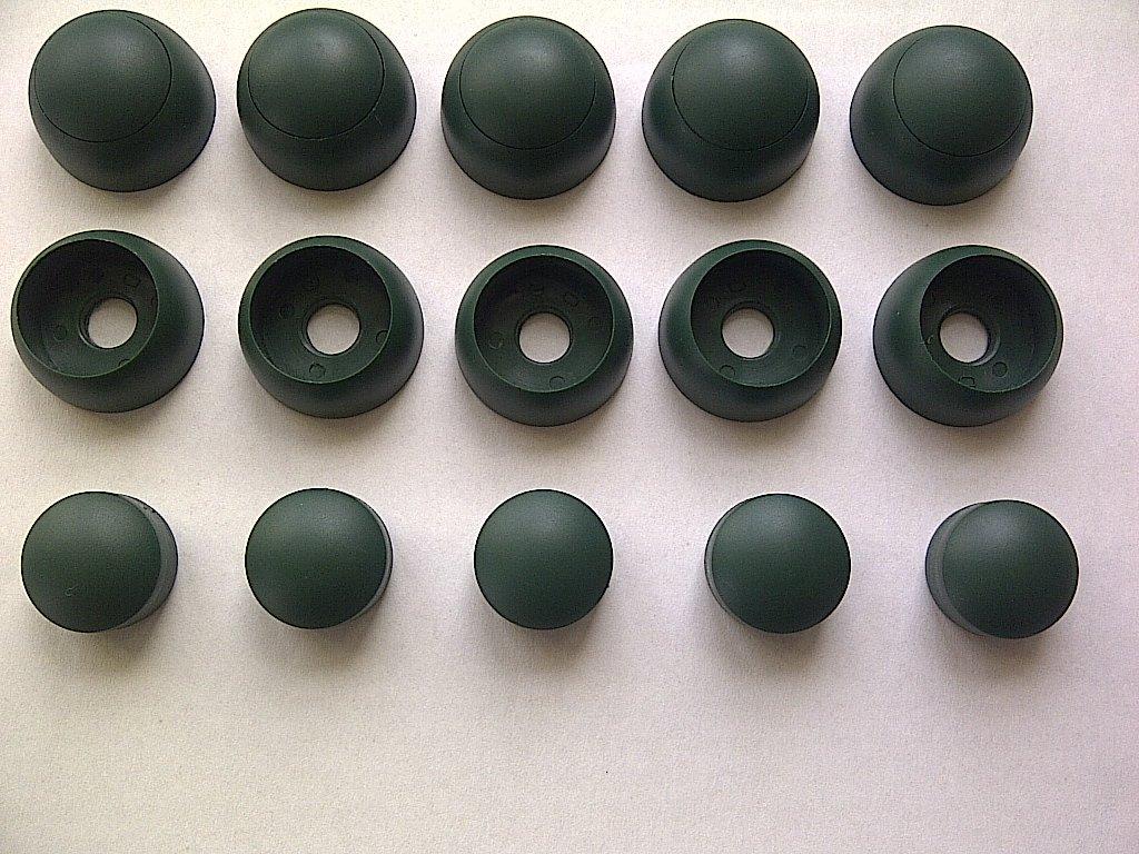 Bolt Covers Bolt Caps (10) For Children's Climbing Frames or Picnic Benches - Dark Green. Little Duck Bear Ltd