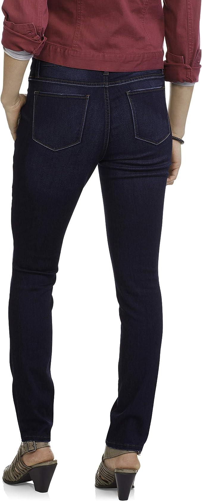 Amazon Com Faded Glory Pantalones Vaqueros Para Mujer Con Tejido Elastico De 4 Direcciones Lavado Oscuro Talla 4 Pequeno Clothing