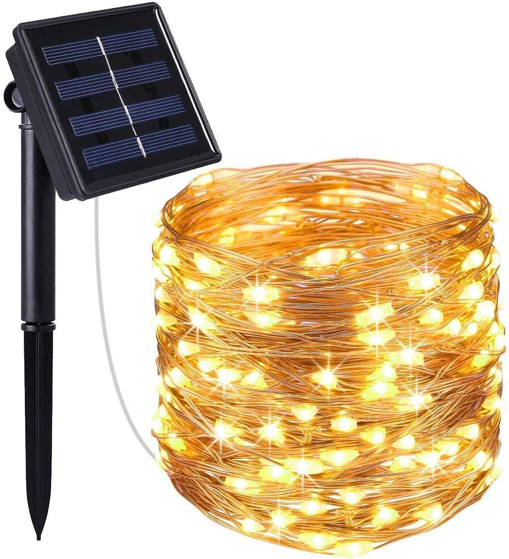 decking and patio lighting amazon co ukcriacr solar string lights, (100 led 2 modes) solar fairy lights, 33ft