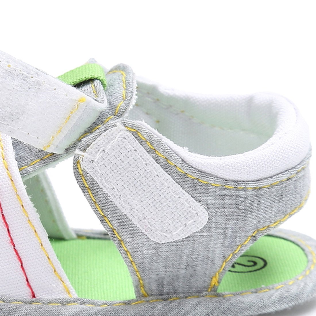 Kimber ❤️ Toddler Baby Girl Boy Sandals Canvas Anti-Slip Summer Velcro Rubber Sole Shoes for First Walker Size 3.5 to 6 M