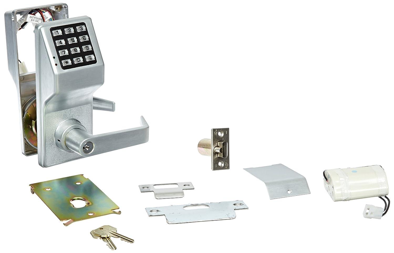 Image of Alarm Lock Trilogy T2 100-User Weatherproof Electronic Digital Keypad Cylindrical Lock Leverset, Satin Chrome Finish Home Improvements
