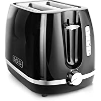Black + Decker BXTO0202IN 870-Watt 2 Slice Pop-up Toaster with Bun Warmer (Black)