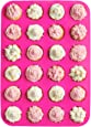 24 Cup, Non Stick, Premium Silicone Mold. Mini Muffin & Mini Cupcake Pan/Silicone Baking Mold/Mini Baking Cups
